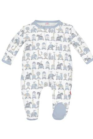 Magnificent Baby Darjeeling Express Baby Boy Footie (Blue) by Magnificent Baby