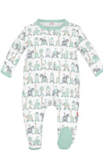 Magnificent Baby Darjeeling Express Baby Footie (Green) by Magnificent Baby