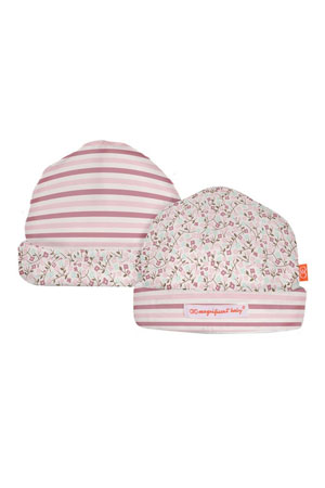 Magnificent Baby Reversible Baby Girl Hat (Bedford Floral Print) by Magnificent Baby