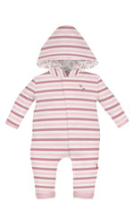 Magnificent Baby Bedford Stripes Hooded Baby Girl Coverall (Bedford Stripes) by Magnificent Baby