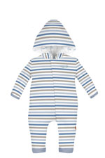 Magnificent Baby Air Stripes Hooded Baby Boy Coverall (Stripes) by Magnificent Baby