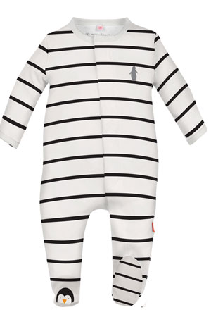 Magnificent Baby Party Penguins Baby Footie (Penguin Stripes) by Magnificent Baby