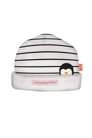 Magnificent Baby Party Penguins Reversible Baby Hat (Penguin Stripes) by Magnificent Baby