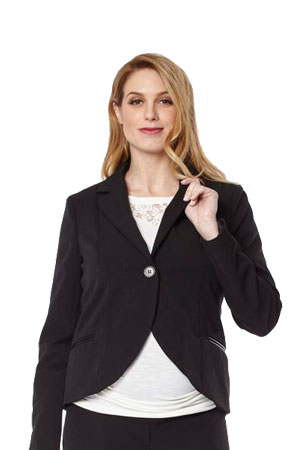 Madison One-Button Maternity Suit Jacket (Black) by Jules & Jim