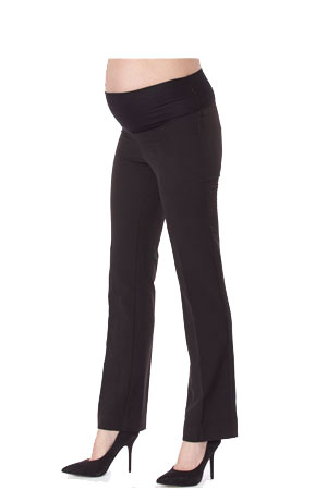 Madison Classic Maternity Straight-Leg Suit Pants (Black) by Jules & Jim