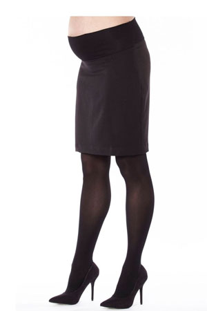 Madison Classic Maternity Suit Skirt (Black) by Jules & Jim