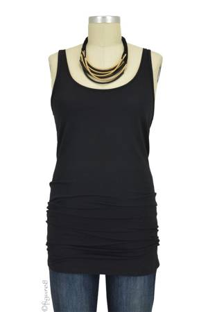 Must-Have Long Maternity Tank (Black) by Noppies