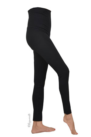 Must-Have Over-the-Belly Maternity Leggings (Black) by Noppies