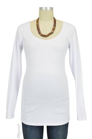 Must-Have Long Sleeve Maternity Tee (White) by Noppies
