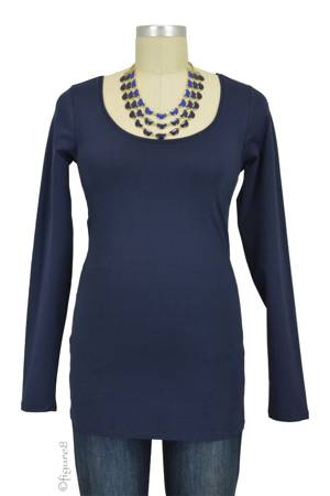 Must-Have Long Sleeve Maternity Tee (Navy) by Noppies