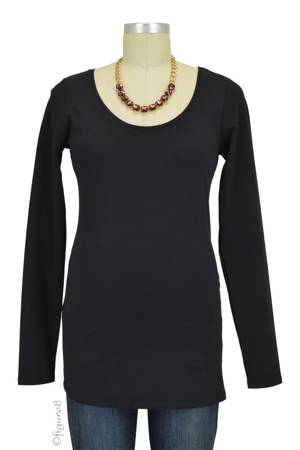 Must-Have Long Sleeve Maternity Tee (Black) by Noppies