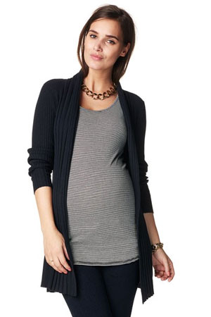 Annie Knitted Maternity Cardigan (Black) by Noppies