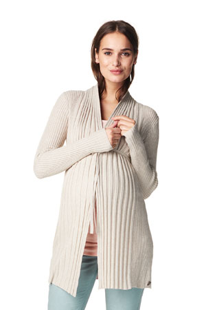 Annie Knitted Maternity Cardigan (Sand Melange) by Noppies