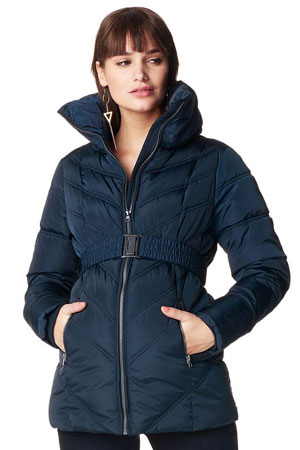 Leslie Quilted Maternity Coat (Dark Blue) by Noppies