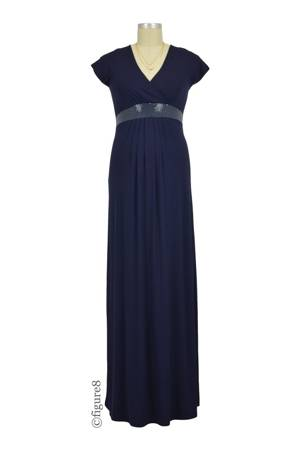 Morgan Sequin Maxi Nursing Dress (Midnight Blue) by Annee Matthew