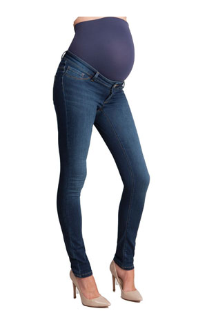 Seraphine Penny Slim Overbump Maternity Jeans (Blue Wash) by Seraphine