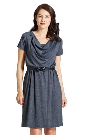 Milky Way Avery Cowl-Neck Maternity and Nursing Dress by Milky Way