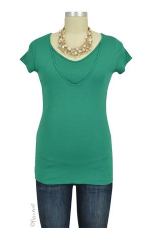 Lise V-Neck Nursing Top (Green) by Pomkin