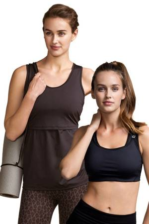 Fast Food Nursing Sports Bra & Sports Singlet <i>Bundle</i> (Black) by Boob Design