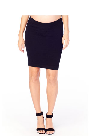 Ingrid & Isabel Textured Maternity Skirt (Black) by Ingrid & Isabel