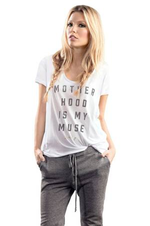 Blanqi Motherhood Is My Muse Tunic Tee (White) by Blanqi
