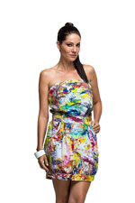 Pizzazz Nursing Dress (Painted Garden) by Milky Way