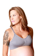 Coobie Seamless Nursing Bra (Medium Grey) by Coobie Seamless Bras