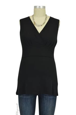 Boob Design Sophia Sleeveless Nursing Top (Black) by Boob Design