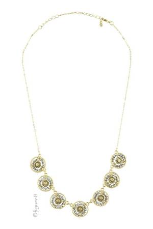 Aiden Wheel Necklace (Gold/Silver) by Jewelry Accessories