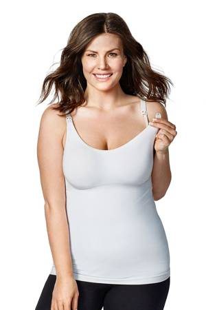 Bravado Body Silk Seamless Nursing Cami (White) by Bravado