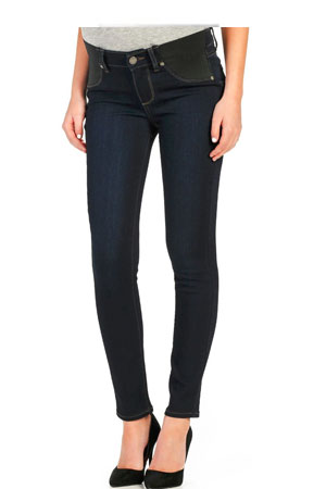 Habitual Conception Skinny Maternity Jeans in Deep End