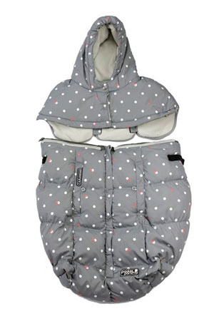 7 am Enfant Pookie Poncho - Special Collection (Grey Dots) by 7 A.M. Enfant