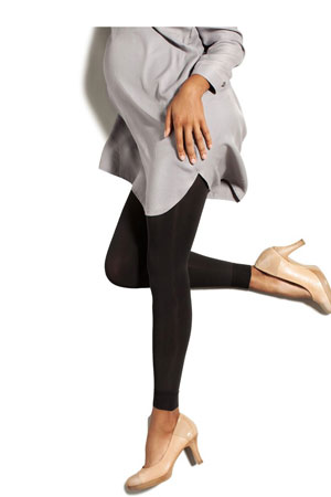 Preggers Maternity Footless Compression Tights (10-15 mmHG) (Black) by Preggers Maternity Hosiery