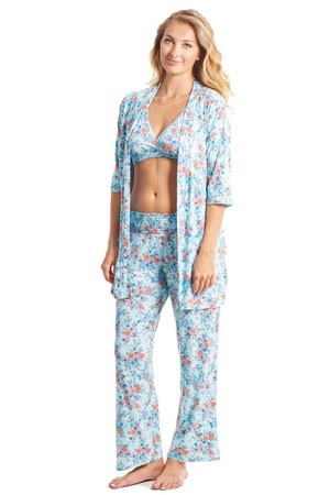 Susan 5-pc. Maternity & Nursing PJ Set with Gift Bag by Everly Grey