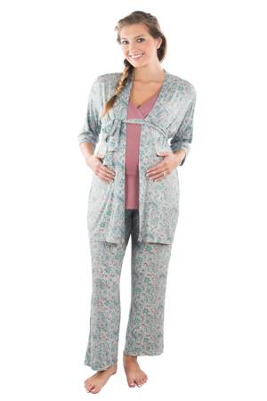 0a87464e9621 Susan 5-pc. Maternity   Nursing PJ Set with Gift Bag (Paisley). Item   1905004. by Everly Grey