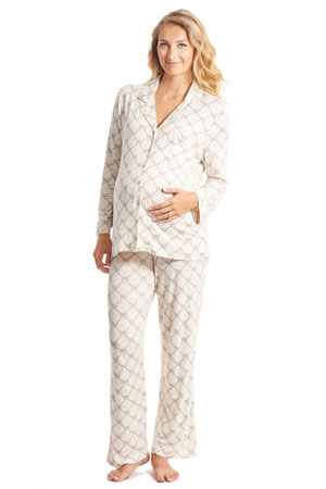 Helene 2-Pc Maternity & Nursing PJ Set by Everly Grey