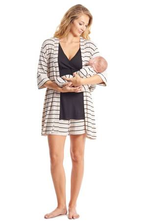 Adalia 5-Pc Nursing PJ Short Set with Baby Gown & Gift Bag by Everly Grey