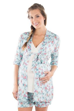 3a7de82933ae Adalia 5-Pc Nursing PJ Short Set with Baby Gown   Gift Bag (Azure