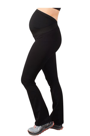 Ease Maternity Active Yoga Pant with Mumband Support (Black) by Mumberry