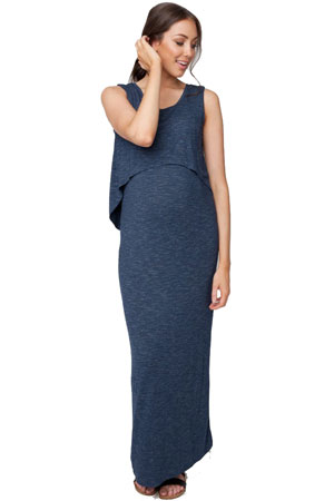 Charlie Swing Back Maternity & Nursing Maxi Dress by Ripe Maternity