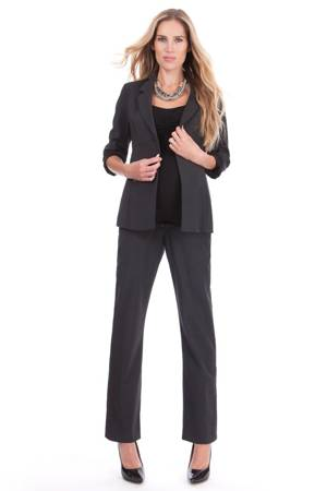Seraphine Carol Wool Career Maternity Suit Set (Charcoal Grey) by Seraphine