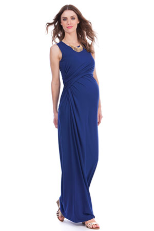 Seraphine Lexington Maxi Maternity & Nursing Dress (Ink) by Seraphine