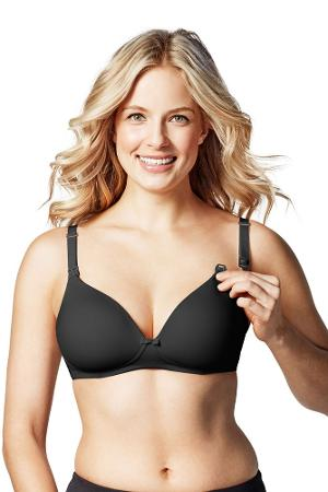 Bravado! Designs Buttercup Wireless Maternity & Nursing T-Shirt Bra (Black) by Bravado Designs