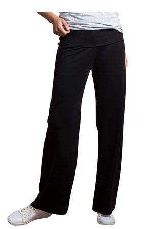 7cfa457b6 Boob Design Once-On Never-Off Wide Light Weight Ponte Maternity Pants (Black