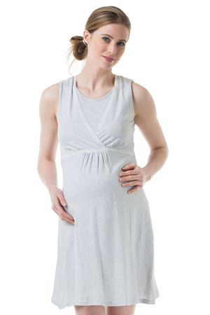 Spring Maternity Jane Maternity & Nursing Sleeveless Cotton Night Gown by Spring Maternity