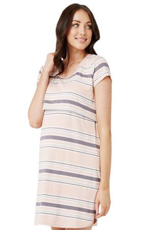 69de7c6ebe4f3 Ripe Taylor Nursing Nightie (Chalk Pink Stripe) by Ripe Maternity