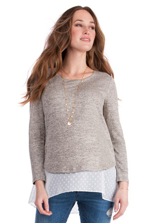 Seraphine Anthea Layered Maternity & Nursing Sweater by Seraphine