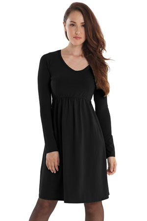 Avery Organic Must-Have Long Sleeve Nursing Dress by Mothers en Vogue