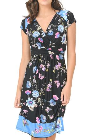Cleo Floral Nursing Friendly Dress by Elly Kiara