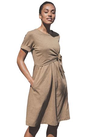 aaee59e9b68ca Boob Design Suki Organic Cotton Slub Maternity & Nursing Dress (Brown  Sugar) by Boob